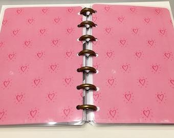 Mini Happy Planner Cover Set-Hearts