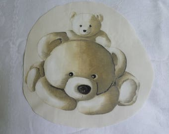 Image sewing bear and Cub in cotton