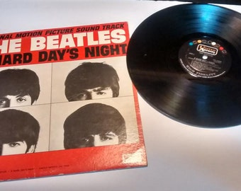 Vintage The Beatles Hard Day's Night LP