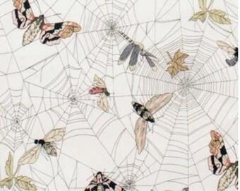 A Ghastlie Web by Alexander Henry Fabric Ghastly Butterflies in Natural