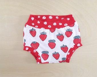 Organic Bummies - Strawberries -Shorts