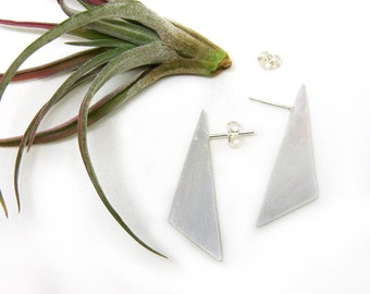 Route Silver Post Earrings
