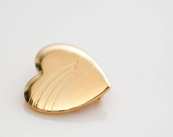 Gold Heart Pin