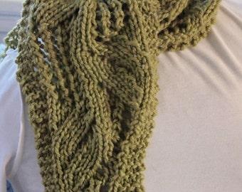 Bean Stalk Scarf PDF Knitting Pattern