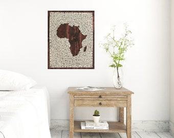 Africa String Art | Africa Art | Map of Africa | Map String Art | Africa Wall Art | Africa Travel | African Continent |