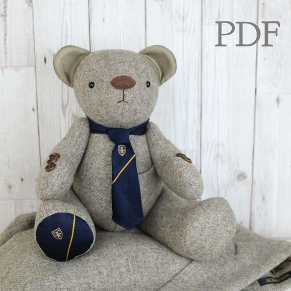PDF Memory Bear Sewing Pattern download Fabric teddy bear