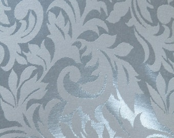 Light Blue Satin Damask Fabric