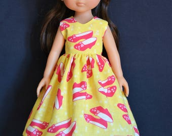 "Handmade Doll Clothes Dress fits 13"" Corolle Les Cheries Dolls Handcraft 13"