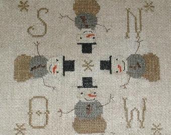cross stitch pattern - Dirty Snowmen