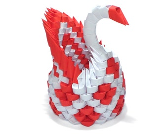3D Origami Mini Diamon Patter Swan Lots Of Colors