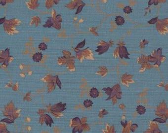 American cotton fabric Windham Fabrics - Designer Pat Speth - floral 1840 peacock blue - by 50cm (110 x)