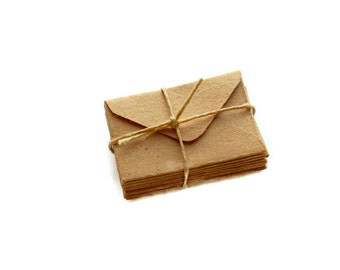 Miniature Envelopes Brown Paper, Teeny Tiny Envelopes, Mini Envelopes