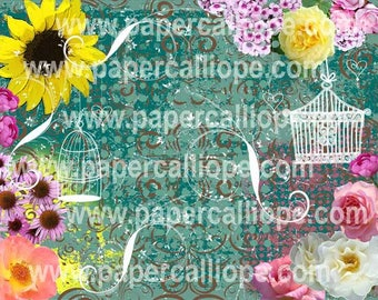 PaperCalliope - In the Garden - Birdcages Paper