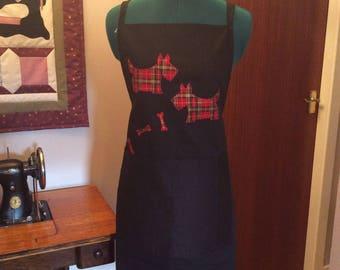 Black scotty apron