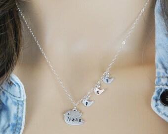 Nana necklace, mom necklace, nana gift, grandmother necklace, grandma necklace, personalized necklace, family tree jewelry, gift for mom,