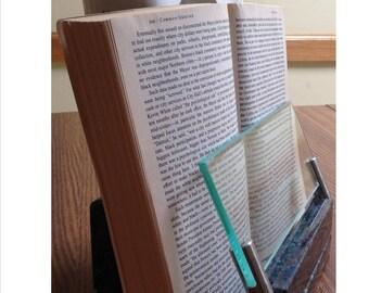 Short granite book holder