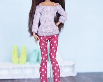 pants outfit for monster high doll  MH 27 cm Ever after high  1/6 eah