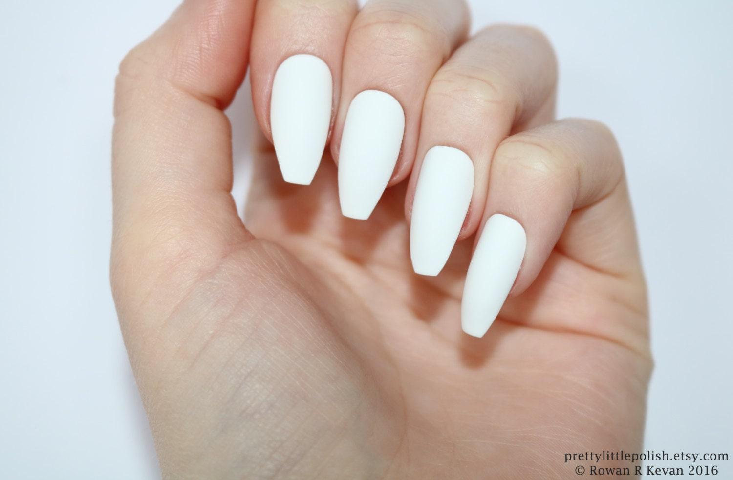 Matte white coffin nails Nail designs Nail art Nails
