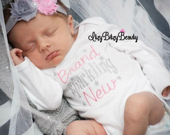 Baby Girls Coming Home Outfit - Brand Sparkling New - Take Home Hospital Outfit - Baby Girls Outfit