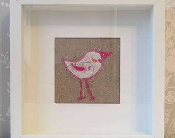 Machine embroidery picture - Bird