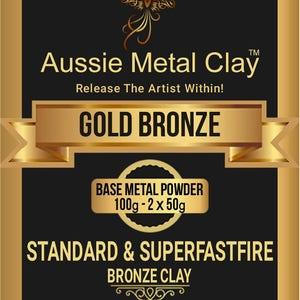 Aussie Metal Clay Superflex Gold Bronze 100 gram pack / Bronze Metal Clay / Flexible Metal Clay