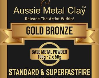 Aussie Gold Bronze Metal Clay 100 Gram packs / Metal Clay Supplies / Jewelry Supplies
