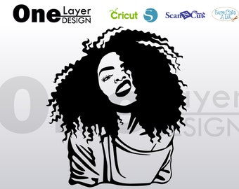 rough beautifull afro girl beautifull, SVG -PNG -PDF File, T-Shirt Svg, svg -Vector Art Commercial & Personal Use- Cricut,Silhouette