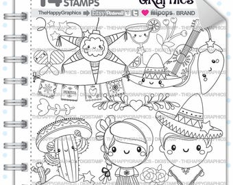 Mexico Stamp 80OFF Commercial Use Digi Digital Image Digistamp Mexican Party Stamps Clipart Kawaii