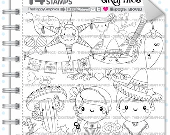 Mexico Stamp, 80%OFF, Commercial Use, Digi Stamp, Digital Image, Mexico Digistamp, Mexican Party, Mexican Stamps, Mexican Clipart, Kawaii
