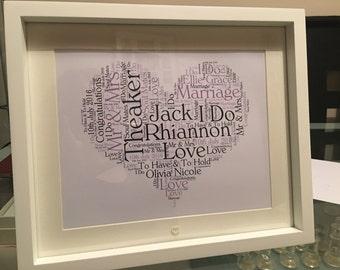 Word art frames