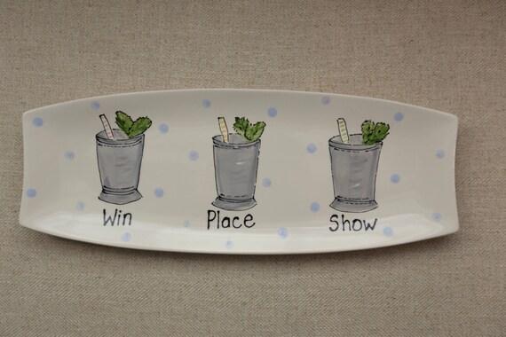 KENTUCKY DERBY platter, Kentucky Derby party, Derby platter, Horse racing platter, Mint Julep platter