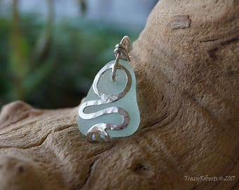 Genuine L.I. Sea Glass and Amazonite Necklace