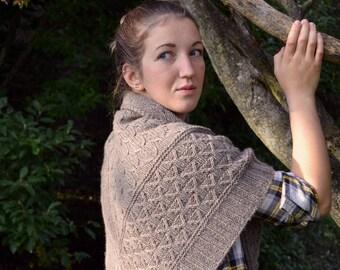 Shawl Knitting PATTERN, Knit Shawl Pattern,  Winter Shawl, PDF - Winterwork Shawl