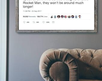Trump Rocketman Tweet - Poster