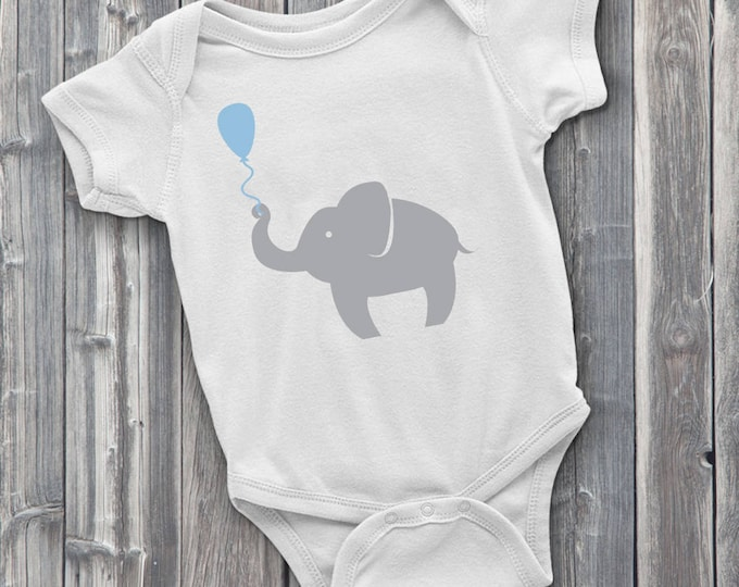 Elephant with balloon 100% Soft Cotton Adorable ONESIE