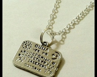 Ouija Board Unisex Silver Chain Necklace