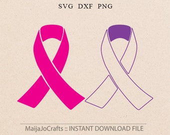 Awareness Ribbon SVG File Cutting Template breast cancer ribbon svg ribbon Clip Art Cricut downloads Cameo Silhouette designs ribbon