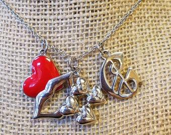 Vintage Glamm Charm Jewelry Necklace, Charm Necklace, Charm Pendant Necklace