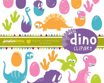 Dino Clipart - Clipart pack set of 20
