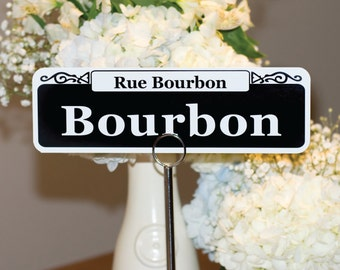 Customizable New Orleans Street Sign Table Numbers