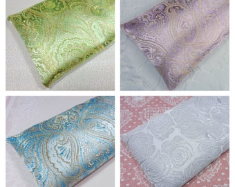 Satin Eye Pillow - Choice of Color - Lavender or Unscented - Yoga Eye Pillow, Lavender Eye Pillow, Flax Eye Mask, Unscented Eye Pillow