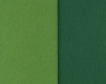 Gloria Doublette Double Sided Crepe Paper For Flower Making Made In Germany Fern And Grass Green  #3340