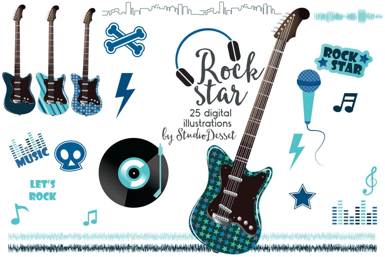 guitar cliparts rock clip art rock star clipart boy rh etsy com rock star clip art free rockstar guitar clipart
