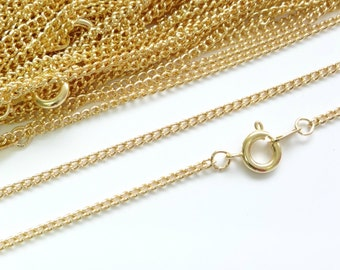 22ct Gold Plated Necklace Curb Chain 16 Inch 4PC 10PC