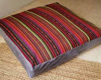 Dog Bed Cover-Tribal Dog Bed Cover-Light Sand Color-Two Covers in One-Bohemian dog bed covers-Box style covers-Heavy Duty Zipper-Washable