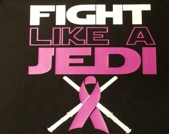 V-neck, Fight Like a Jedi - Cystic Fibrosis