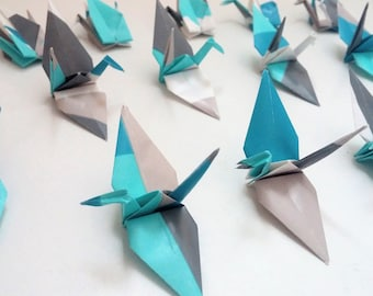 Set of origami cranes: Guy Collection