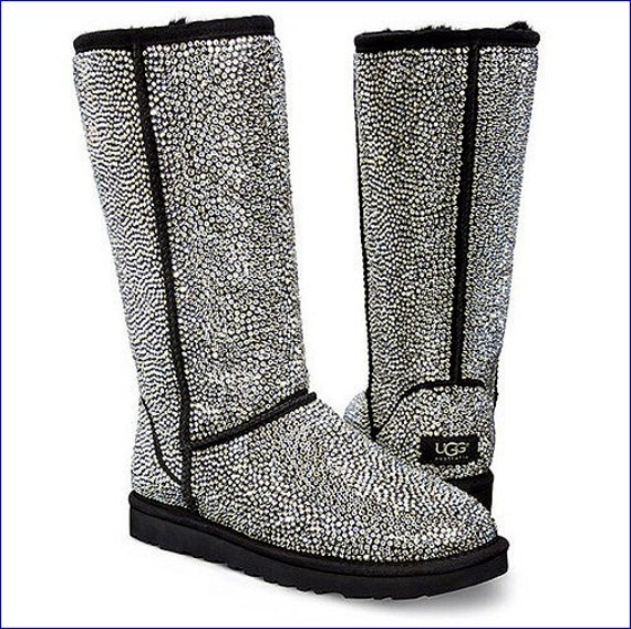 UGG Ultimate gift w/ Swarovski Crystal Bling on Customized Classic Tall Strass Boots Clear Dynamite Full Coverage Rhinestone Winter Shoes