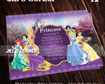 Princess invitation - Disney Princess Birthday Invitation