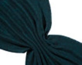 Prefelt black/Turquoise, merino/silk wool heathered: , 120 cm x 50 cm